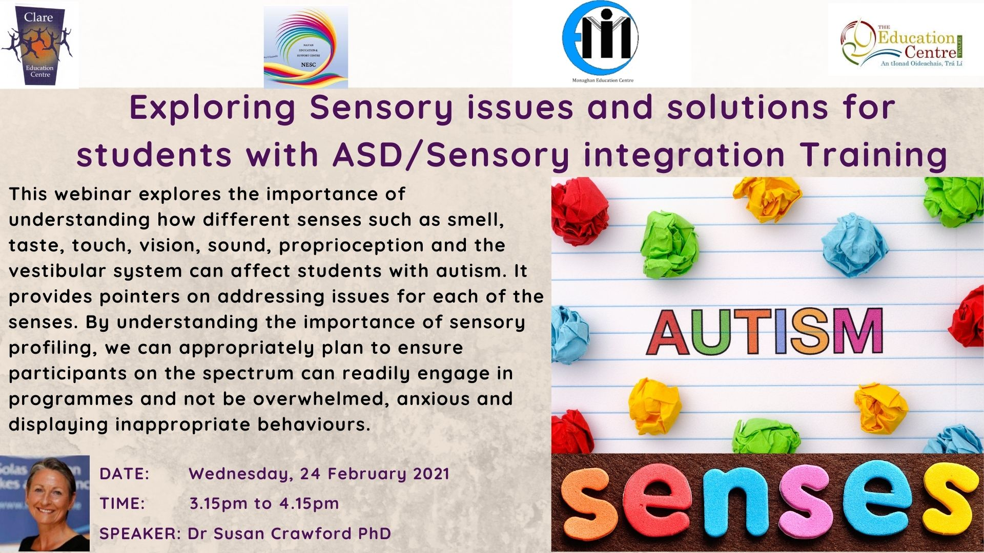 Feb 24 Exploring Sensory issues and solutions