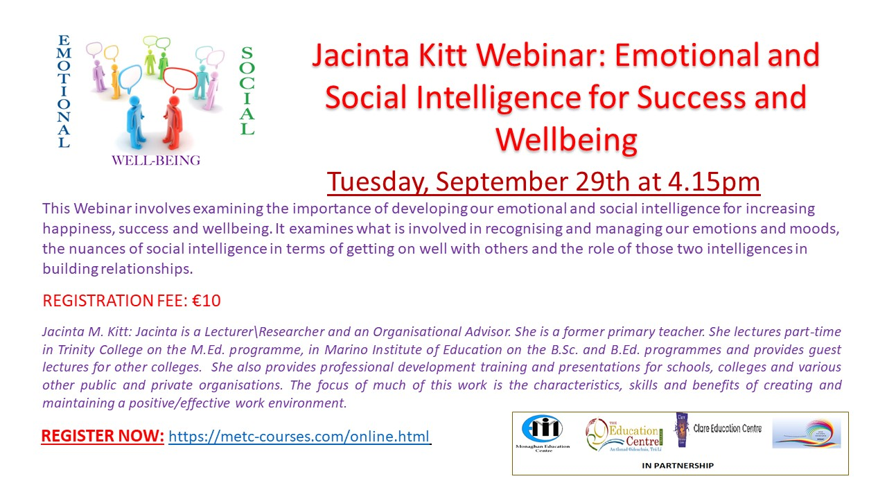 Jacinta Kitt Webinar Emotional and Social Intelligence for Success and Wellbeing 29Sept