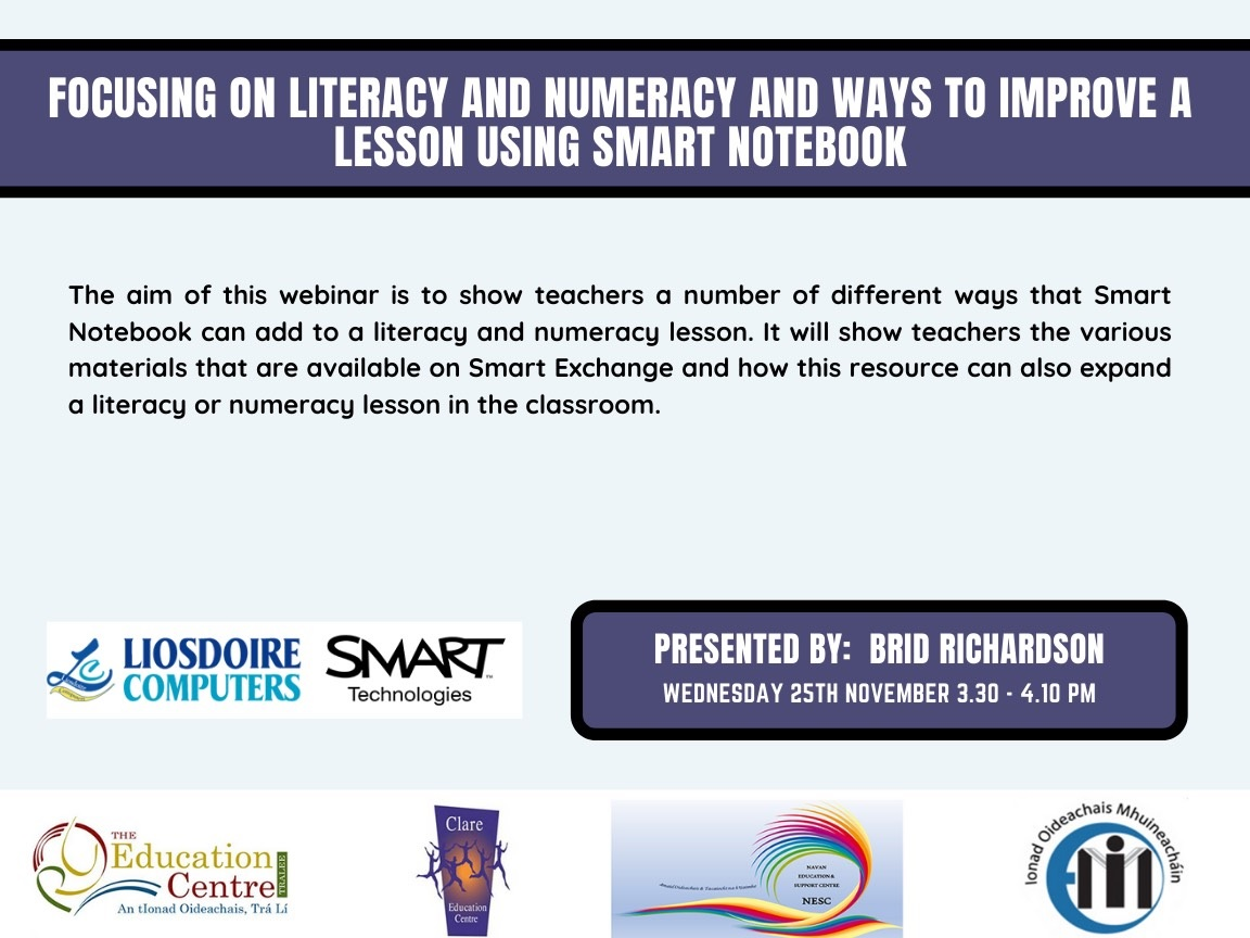 Nov 12 Focusing on Literacy Numeracy using Smart Notebook